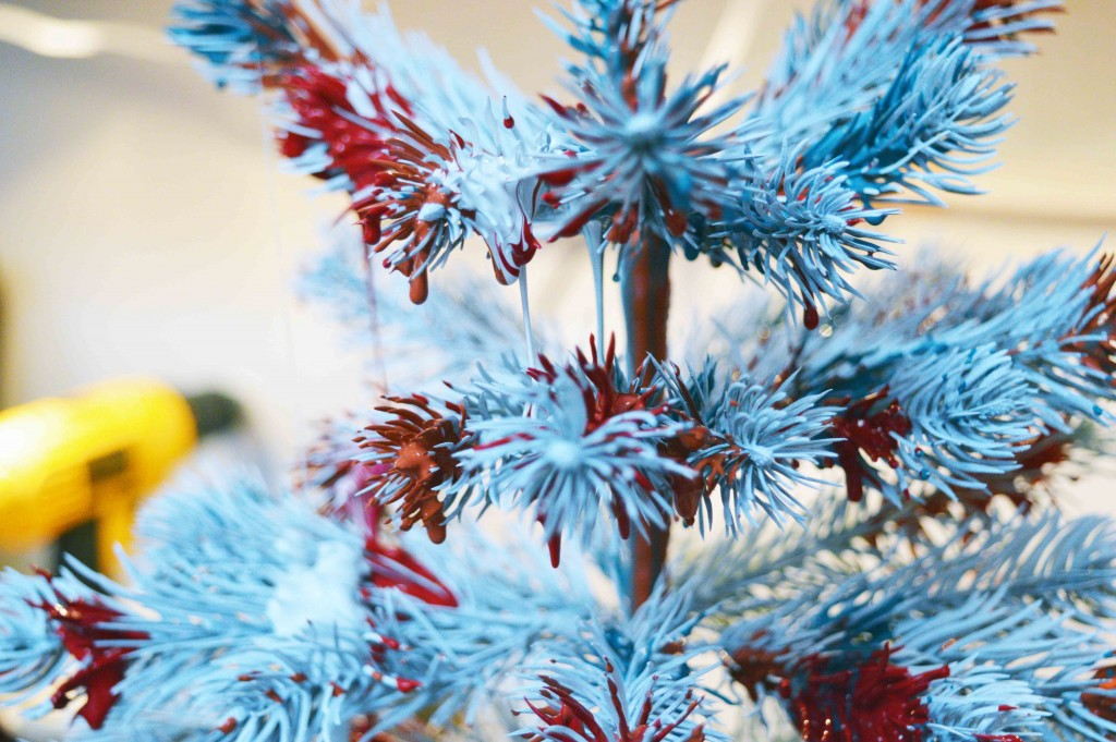 The Christmas tree getting very drippy