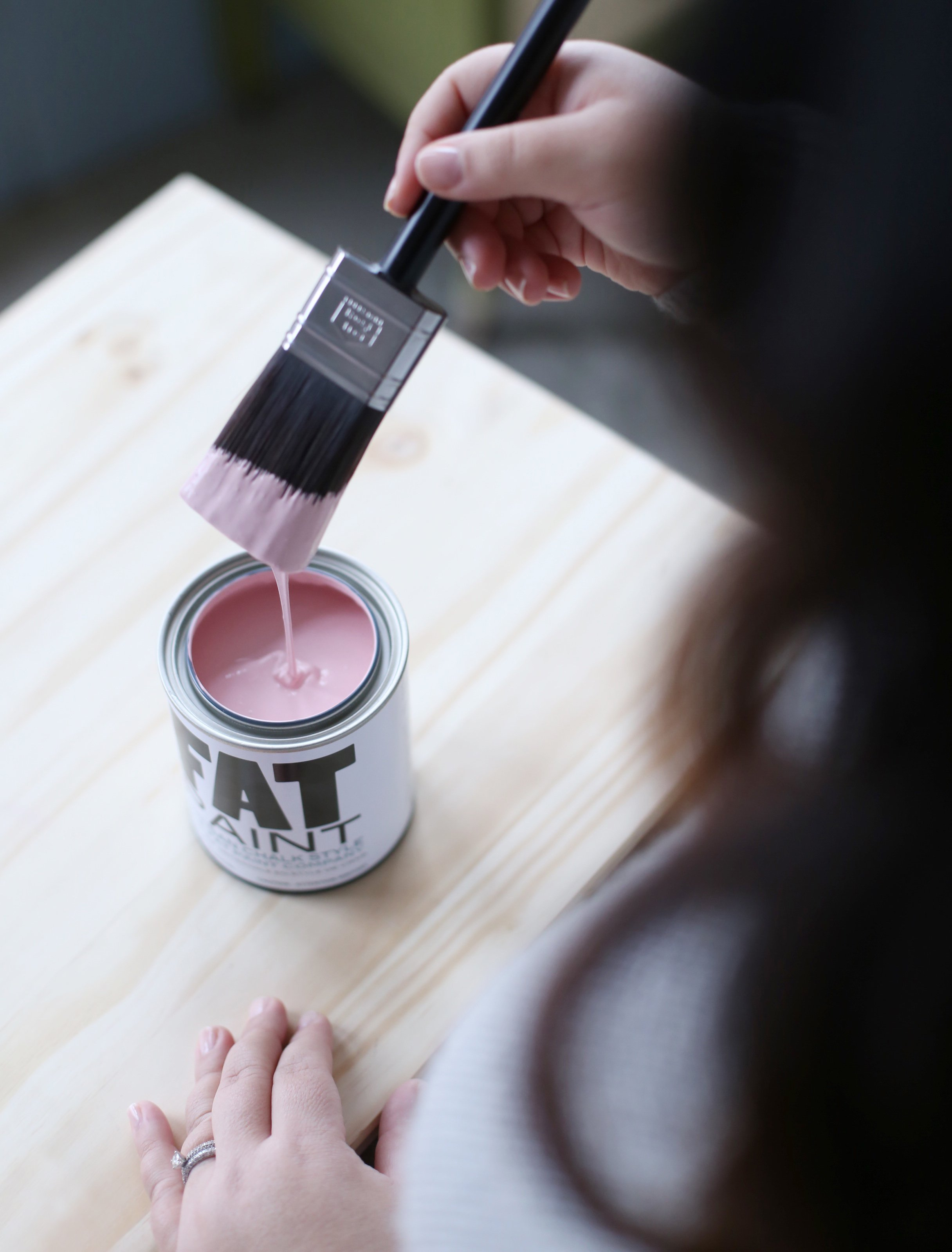 This IKEA Hack uses Juno - a new pink soon to be on the FAT Paint palette
