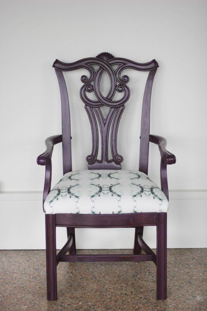 The full reveal of this darling Dharma chair