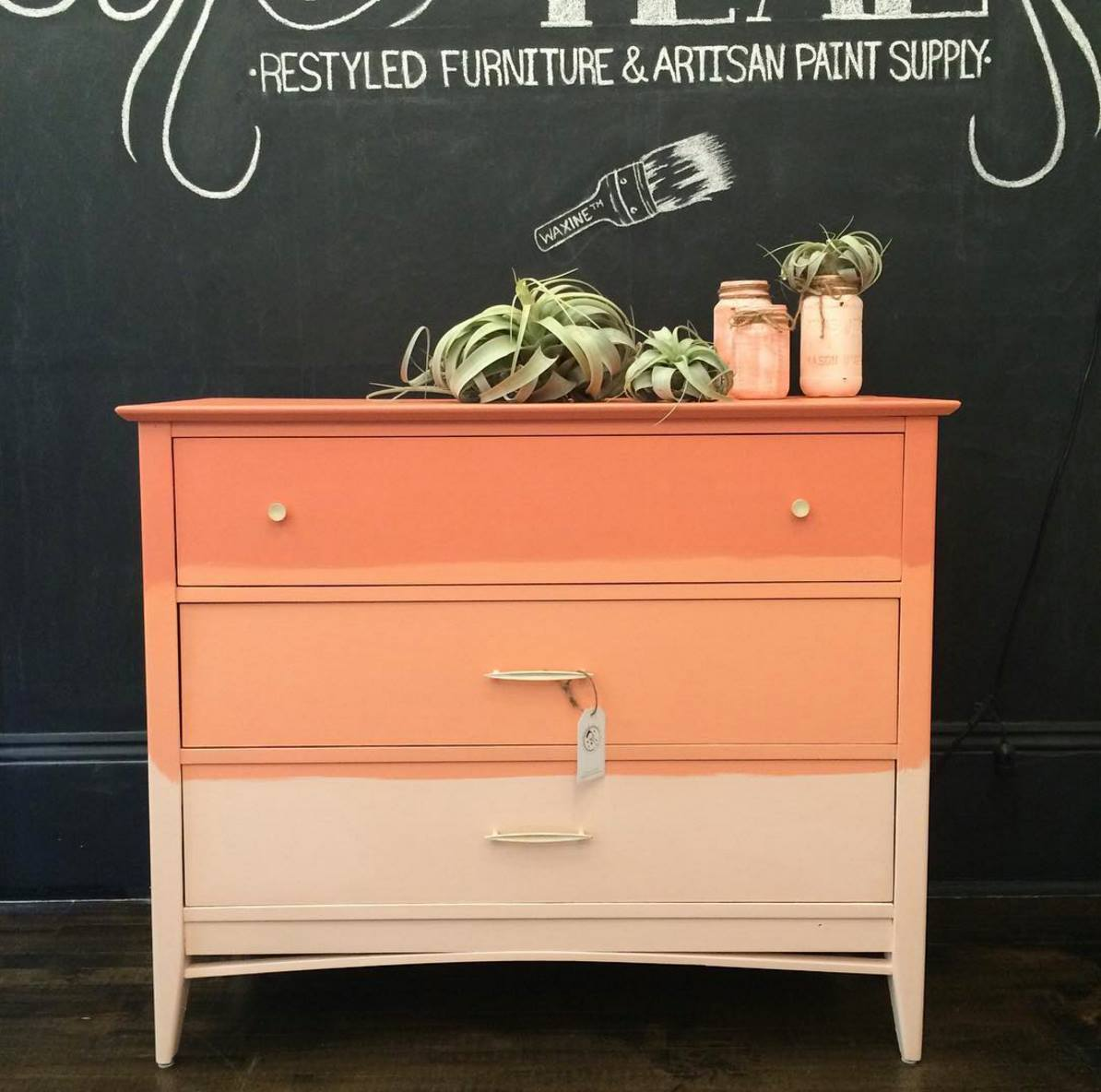 Ombre FAT Painted Dresser Chalkpaint