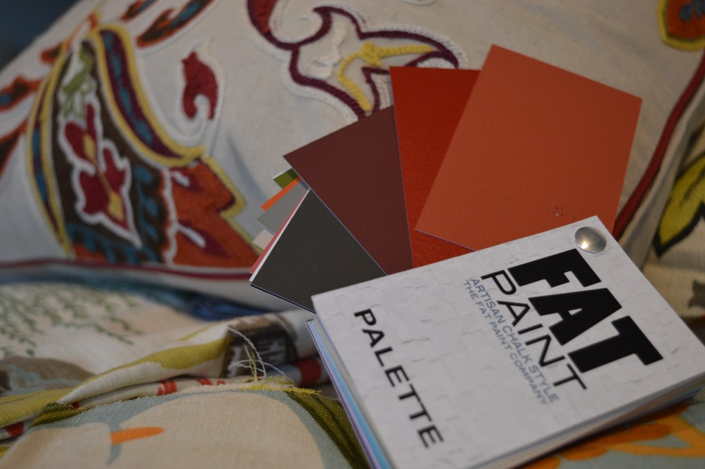 FAT Paint project: we used the colour Autumn, the first colour displayed on our FAT Paint palette.