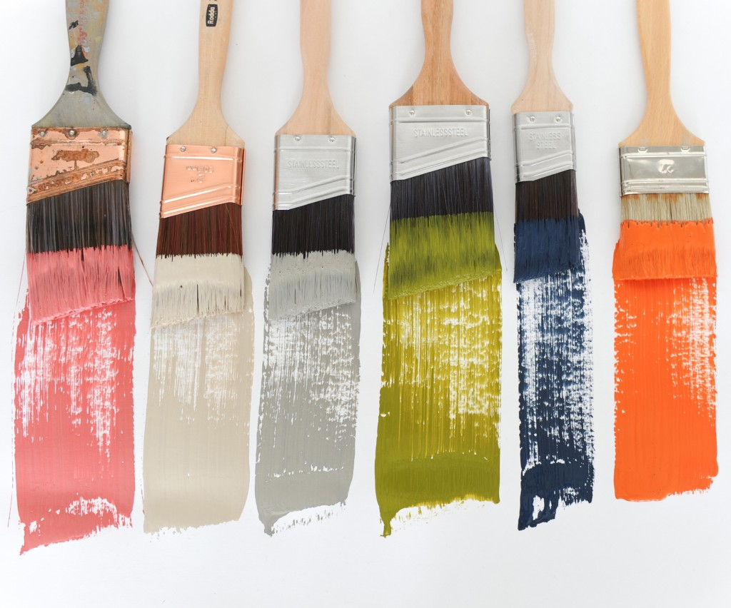 FAT Paint colours: Blushing Bombshell, Couture Linen, Greysful, Can't See Me Camo, Navy State of Mind and Orangeapalooza from The Amanda Forrest Collection