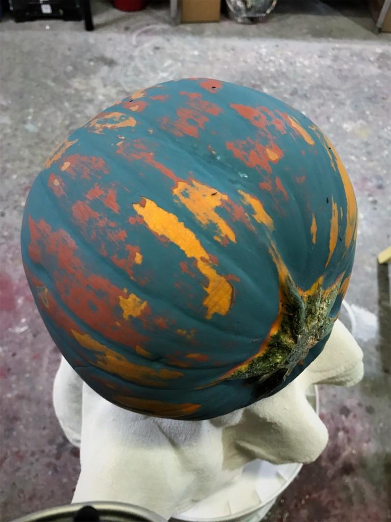 Pumpkin distress Peacock 1