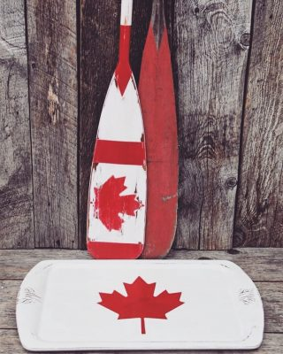It's nearly here! Tomorrow we Celebrate Canada ☀️ . . Artist: @isnt_that_pretty with FATPaint Retailer @shuswapartisans - Sorrento, BC . . . #FATPaintstudio #FATpaint #inFATuated❕ #chalkpaint #chalkpainteddecor #bestchalkpaint #paintedpaddles #custompainted #mapleleaf #fatredbarchetta #paintallthethings #betheartisan #canadaday