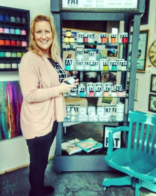 This is team member Lisa here at FAT Paint HQ. She's our order processing guru and has a lot of experience with FAT on fabric. This is your chance... any questions for Lisa? 🙂 #FATPaintstudio #FATPaint #fatpaintretailer #paintfabric #fabricpainting #restoredfurniture #breathenewlife #furnituremakeover #chalkstylepaint #bestchalkpaint #paintallthethings #becreative #diyhomedecor #artisanlife